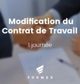 Formation Modification du Contrat de Travail
